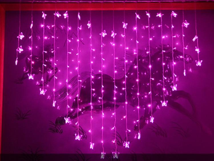 200x150cm 우아한 웨딩 배경으로 LED 조명 나비 웨딩 장식 중앙 크리스탈 트리 크리스탈 7 색