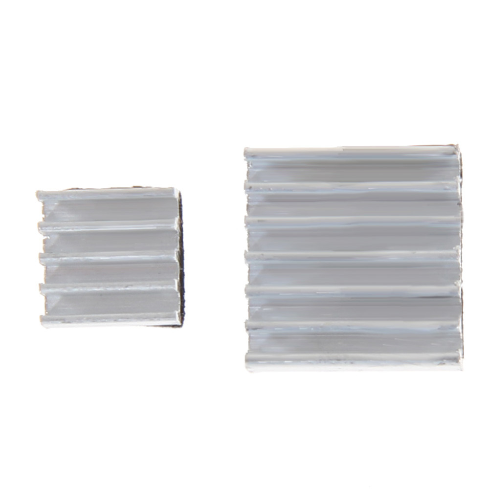 Hot Sale 30 Pcs Adhesive Raspberry Pi 3 Heatsink Cooler Pure Aluminum Heat Sink Set Kit Radiator For Cooling Raspberry Pi 2 B 5pcs lot pure copper broken groove memory mos radiator fin raspberry pi chip notebook radiator 14 14 4 0mm copper heatsink