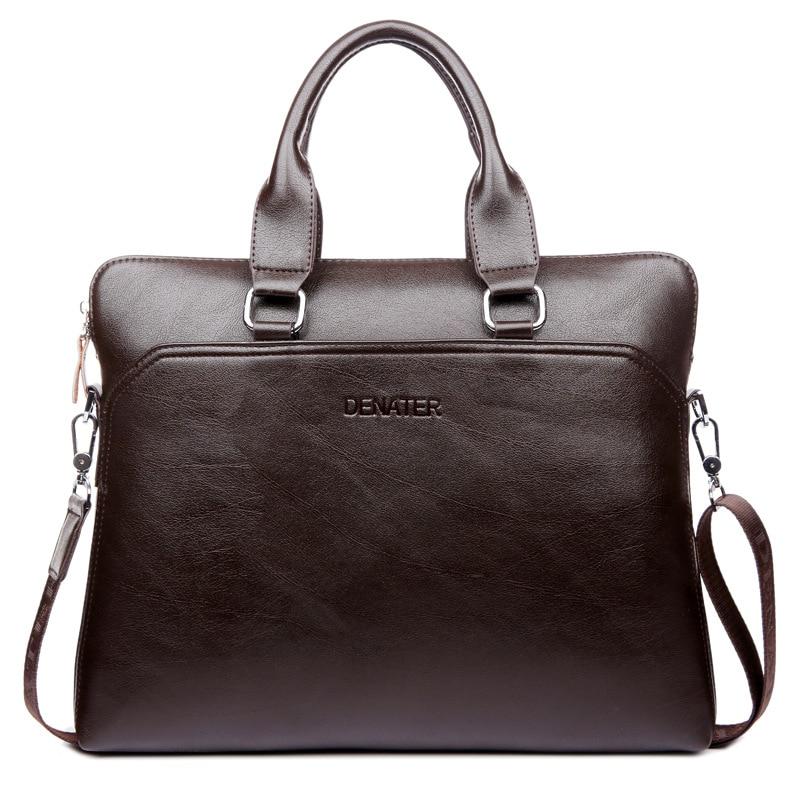 New Luxury Leather Business Men's Briefcase Male Fashion Shoulder Bag Men Messenger Bag Boy Casual Tote Computer Handbag
