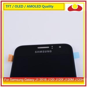 """Image 4 - Original 4.5 """"para samsung galaxy j1 2016 j120 j120f j120m j120h display lcd com tela de toque digitador assembléia painel completo"""