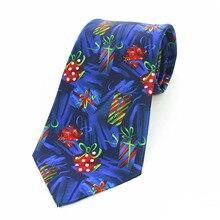 Mantieqingway Mens 9cm Christmas Ties Santa Claus Prinetd Wide Necktie Corbatas Slim Vestidos Casual Pattern Cravat Neck Ti