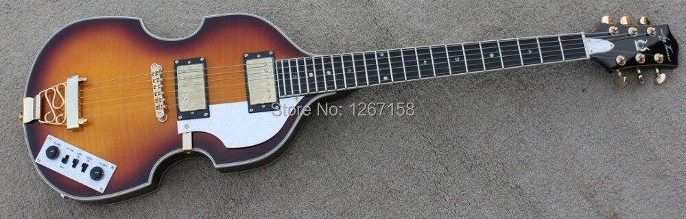 Verrassend VINTAGE SUNBURST Hofner stijl Viool gitaar, hollow body hals YD-52