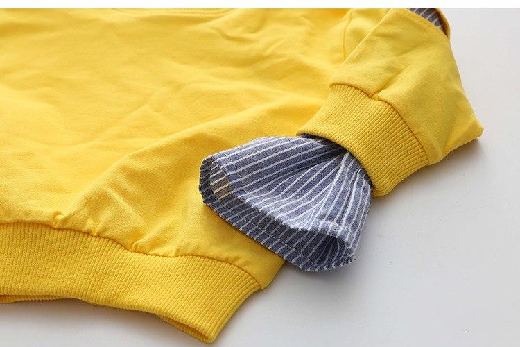 2018 Spring Autumn 2-10 11 12 Years Old Teenager Children Patchwork Fake 2 Pcs Baby Kids Basic Sweatshirt For Girls 11 12 Years (22)