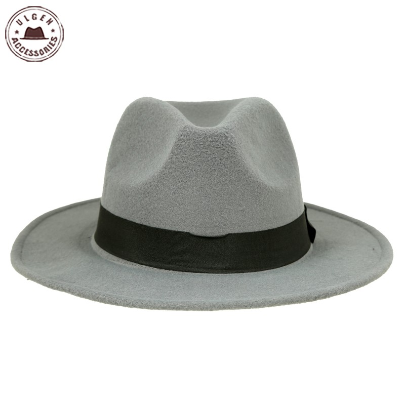 Hot sale cheap unisex wool Jazz hats mens fedora hat women felt hat cowboy  panama hats for women derby fedoras  HUB048g1100 -in Fedoras from Apparel  ... 2211aa08301