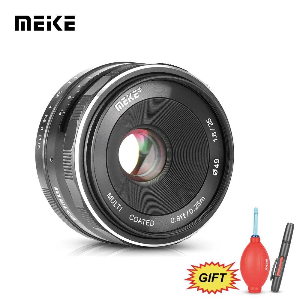 MEKE Meike MK 25mm f1.8 Grande Ouverture Large Angle Lentille Manuel pour Canon EOS M1 M2 M3 M5 M6 m10 M100 EF-M Caméras à monture + Cadeau Gratuit