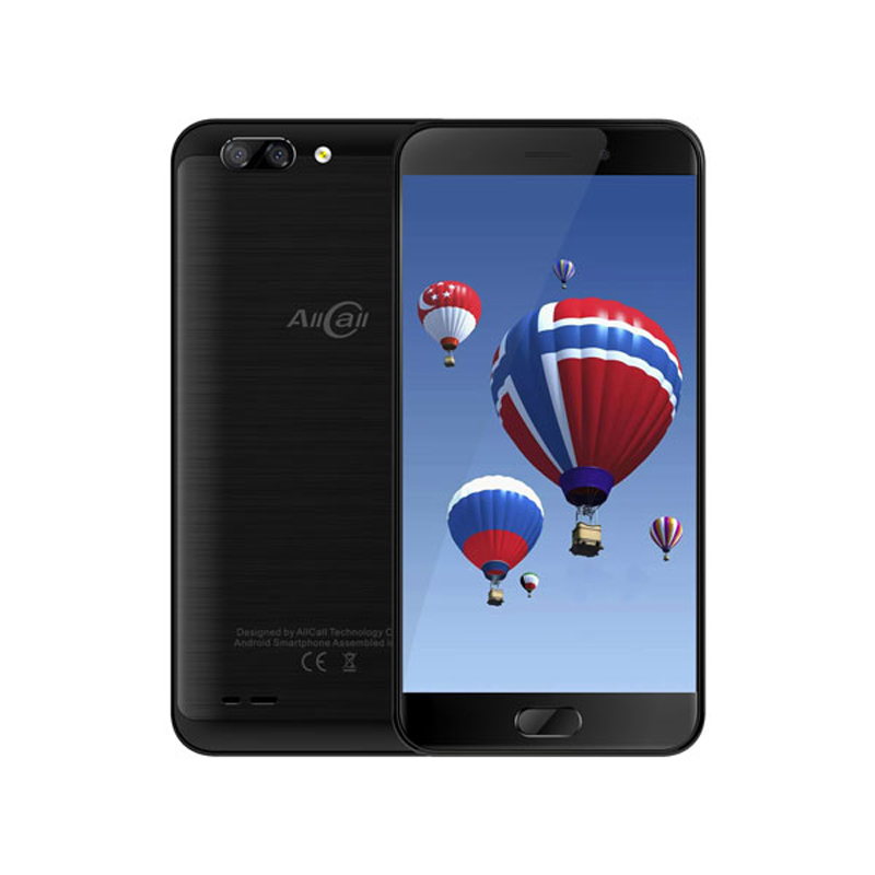 Original AllCall Atom 4G Mobile Phone 5.2'' HD 2.5D Curved Screen Dual Rear Cam Android 7.0 MTK6737 Quad Core 2GB+16GB 8MP Phone