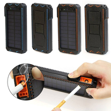 15000mAh Solar Power Bank Portable External Battery Bank Solar Powerbank Charger with Electric Cigarette Lighter for Smart Phone itian a1 15000mah qc3 0 power bank