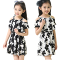 Summer Dresses For Girls Soft Chiffon Children Clothing Pint Floral Big Kids Clothes A-Line Bohemian Girls Princess Dress 2-12 Y