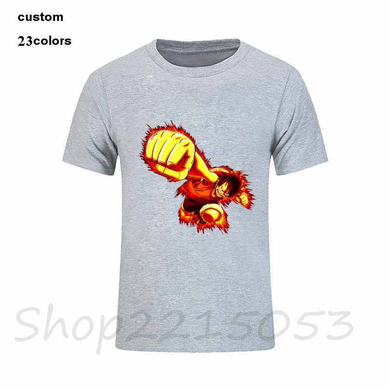 f0f75ed1968d6 ... One Piece T shirt 2018 Fashion Japanese Anime Clothing Back Color Luffy  Cotton T-shirt ...