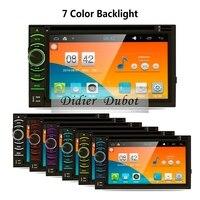 Quad Core Android 5.1.1 DVD Player Do Carro 2 din duplo universal Estéreo Rádio Do Carro de Navegação GPS Do Carro com Wi-fi, 3G, BT, Ligação Espelho