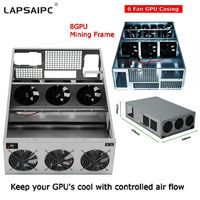8U Deep Server Case 8 GPU Crypto Coin Open Air Mining Server Frame Rig Graphics Case