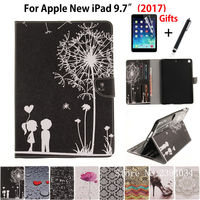 Popular Pattern Case For Apple New IPad 9 7 2017 Case Smart Cover With Card Slots