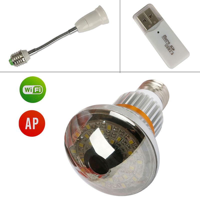 BC-885YM HD960P P2P Mirror Bulb WiFi/AP IP Network 3.6mm Len Camera with 5w Warm Light Night Vision and Motion Dection Wifi Cam eazzy bc 688 bulb cctv security dvr camera auto control light and recording motion dection night vision circular storage