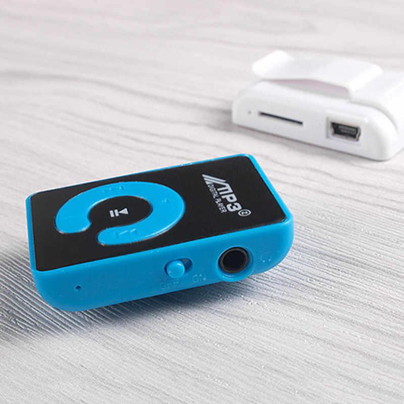 SIFREE MP3 плеер клип с USB кабелем мини портативный музыкальный спортивный плеер Поддержка 8 Гб Micro SD TF зеркальный экран Walkman для студентов