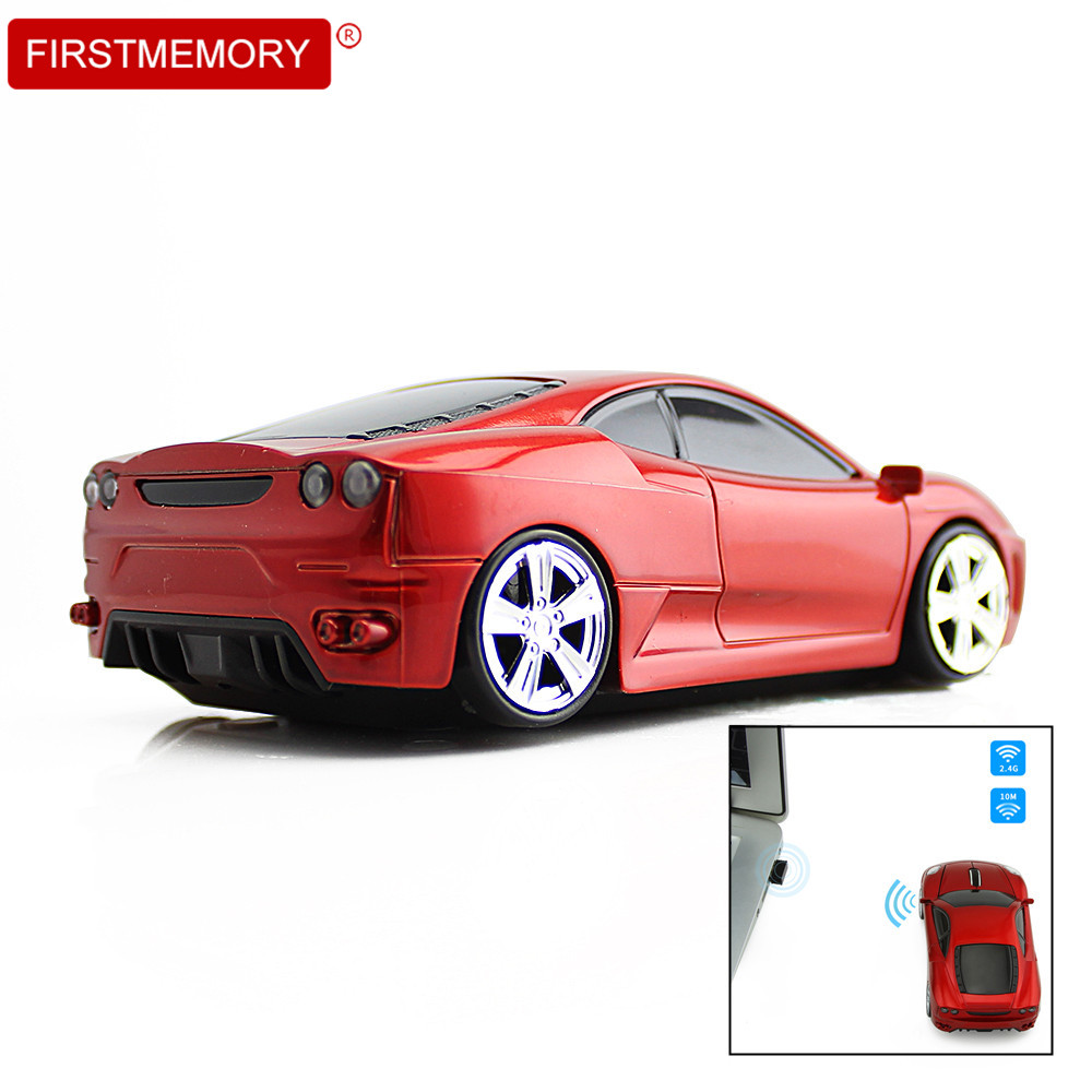 Wireless Computer Mouse New Ferrari Sports Car Mice 2 4Ghz Optical Gaming Mause with LED