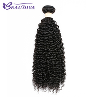 Beaudiva Brazilian Kinky Curly Hair 100 Human Hair Weave Bundles Natural Color Remy Hair Bundles Free