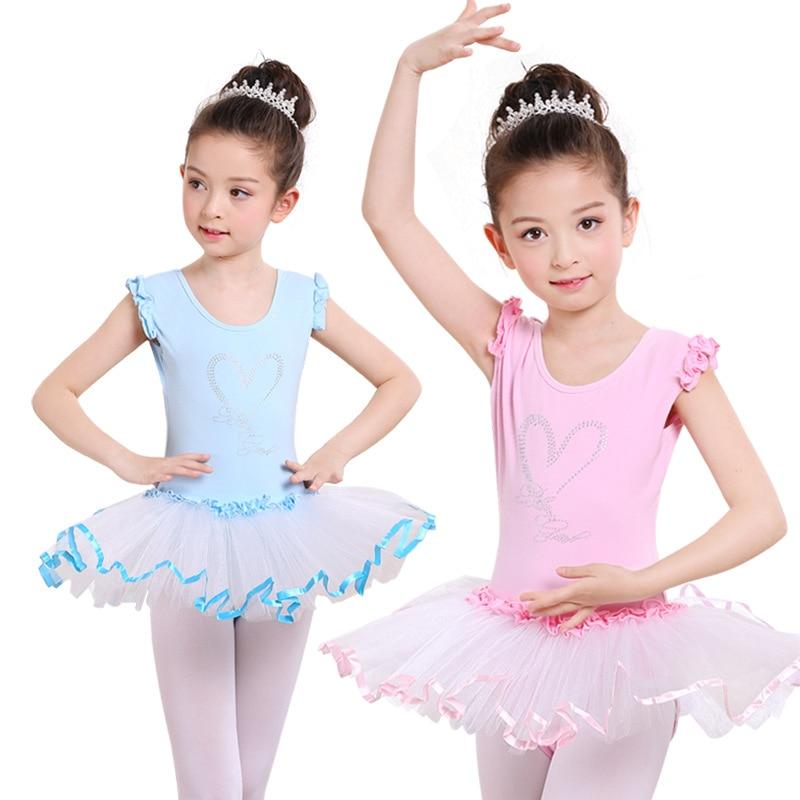 Ballet Tutu Child Dance Costume Ballerine Leotard Gymnastic Unitards Ballet Clothes Children Kids Ballet Dance Dress For Girls