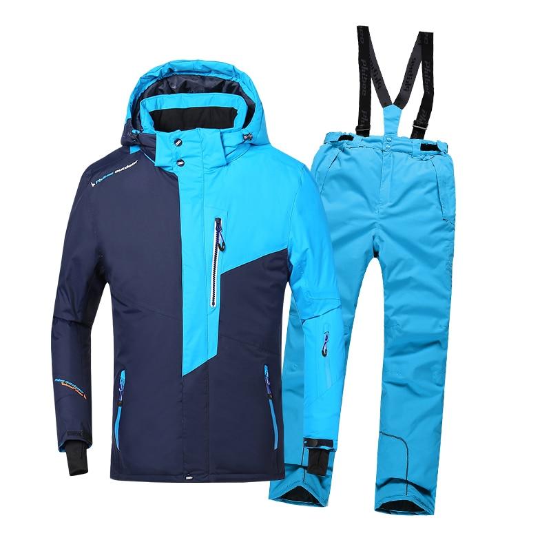 2018 Hiver En Plein Air Sport Costume pour Garçons Ski Vêtements Coupe-Vent Imperméable Thermique Snowboard Neige Ski Veste Pantalon Ensemble Neige Costume
