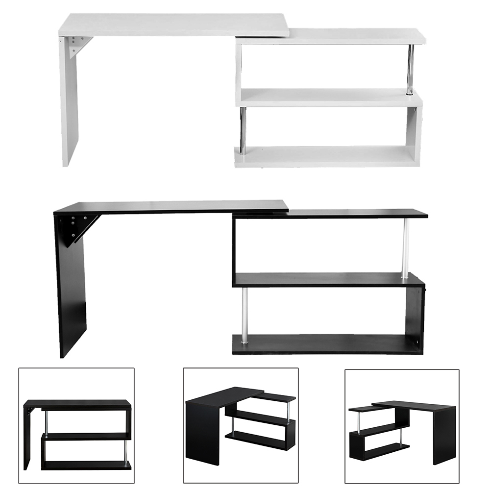 Wooden Office Table Computer Desk Workstation DIY S shape Home PC Study Table Office Furniture HOT SALE glass office table computer desk workstation with suspended cabinet and drawers office furniture hot sale