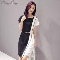 dfa777e4c084 2018 New Fashion Summer Elegant European Version Large Size Women S Clothes  Casual Short Sleeve Work. 2018 Nova Moda ...