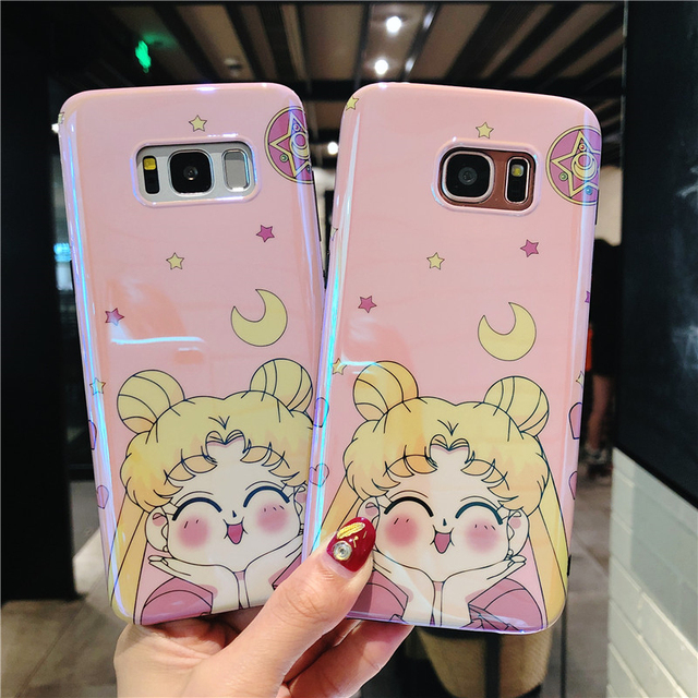 wholesale dealer ac5b0 c340e US $4.74 5% OFF|for Samsung S9 plus Cute Sailor moon Case For Samsung S9 S8  S8plus note8 S7 edge Cute Soft back cover Protective girl shell-in Fitted  ...