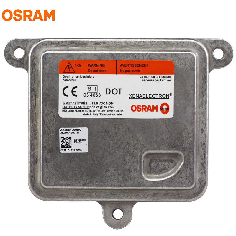 OSRAM 35XT6 12V 35W XENAELECTRON Original Car D1S D1R HID Headlight Xenon Ballast ECG for Automotive