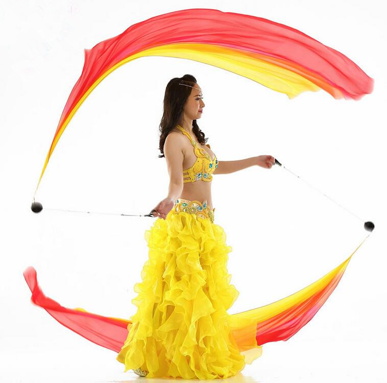 Veil POI Costume-Accessory Thrown-Balls Streamer Stage-Performance-Props Belly-Dancer