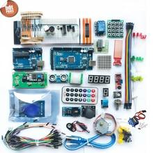 Kit de Inicio para Arduino y mega 2560 / lcd1602 / hc sr04 / HC SR501 línea dupont en caja de plástico