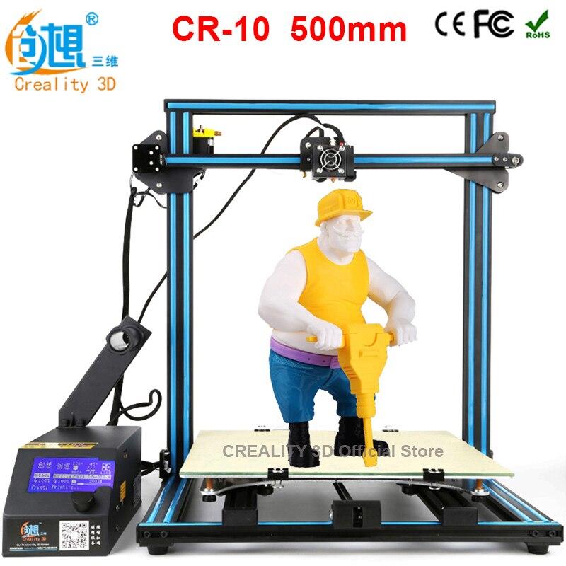 CREALITY 3D CR 10 large 3d Color Printer 500 500 500mm 3d printing kit FDM Injection