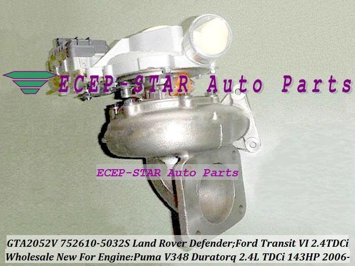 GTA2052V 752610-5025S 752610-5009S 752610-5010S YC1Q6K682DA 752610 Turbo For Land Rover Defender Transit VI 2006- Puma 2.4L TDCi