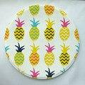 Impressão abacaxi personalizado rodada capacho anti-slip pad tapete carpet crianças quarto decoração de casa tapete tapete de absorção de água