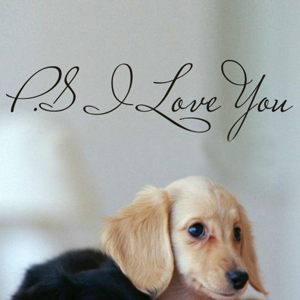 Ps I Love You Letter Vinyl Wall Quotes Stickers Home Art Decals Room