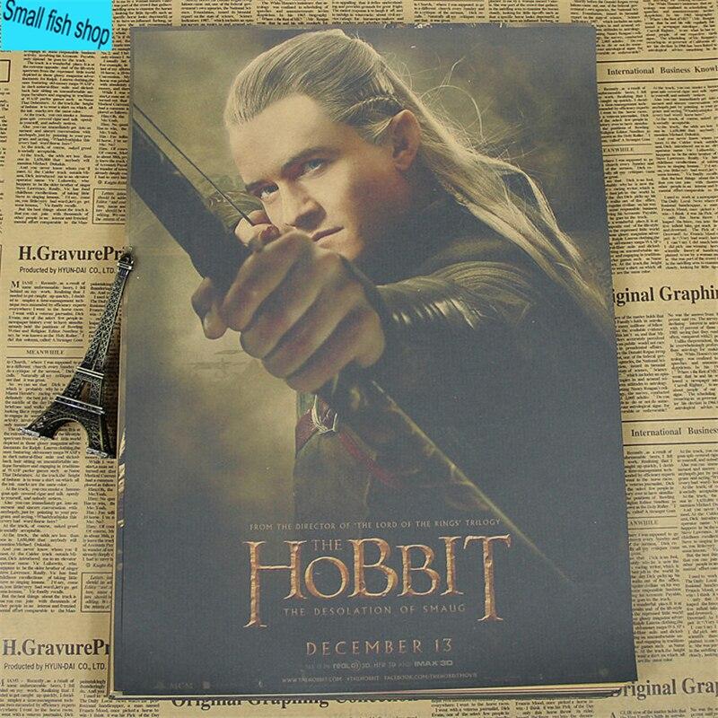 El Hobbit serie Movie Poster decoración del Equipamiento Casero Kraft Movie Poster núcleo Dibujo pegatinas de Pared
