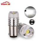 Urbanroad 2Pcs 1157 BAY15D 3W Car LED COB Concave Len Strobe Flashing White 12V P21/5W Car Brake Turn Signal Lamp Bulb