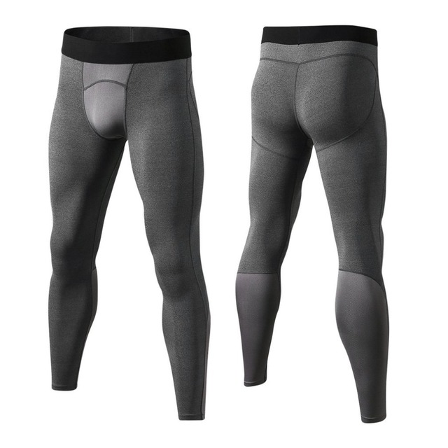 Yuerlian Breathable Men Compression Gym Pants Comfortable Tights Sports Bodybuilding