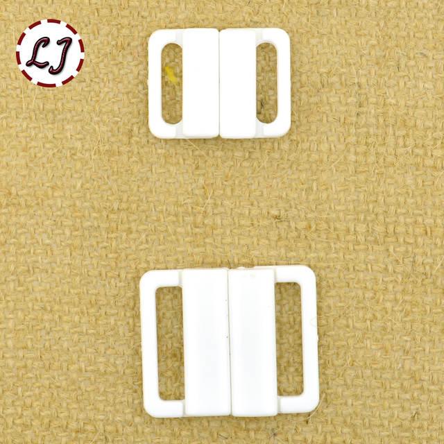 10 Teile Los 14mm 20mm Handwerk Kunststoff Weiß Rechteck Band Verschluss Haken Schließe Taille Extender Nähen Auf Kleidung Bh Clip Haken