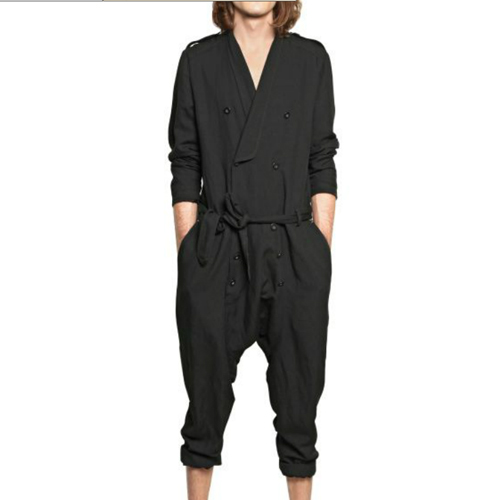 S-6XL!!Fashion casual jumpsuit loose  can be customized spring and summer male  trousers
