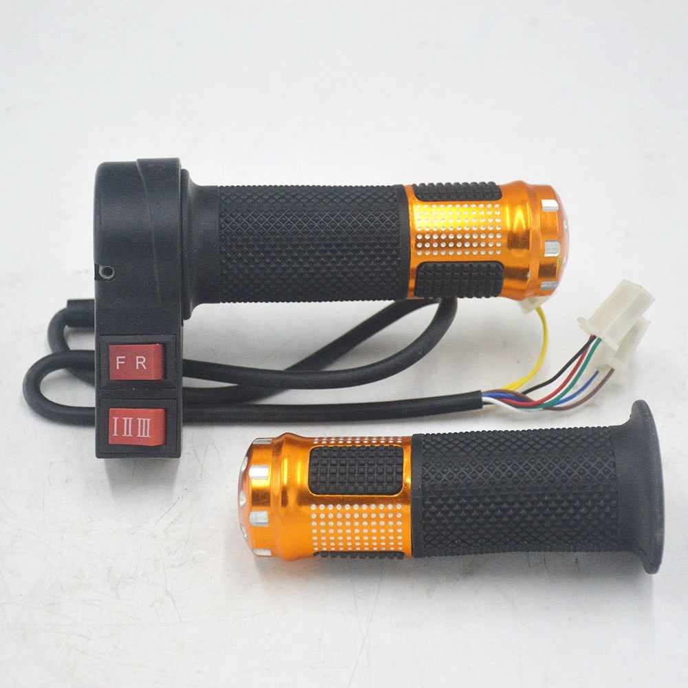 24V/36V/48V/64V/72V/96V electric bicycle throttle with 3 speed controller and forward reverse for ebike/scooter/tricycle