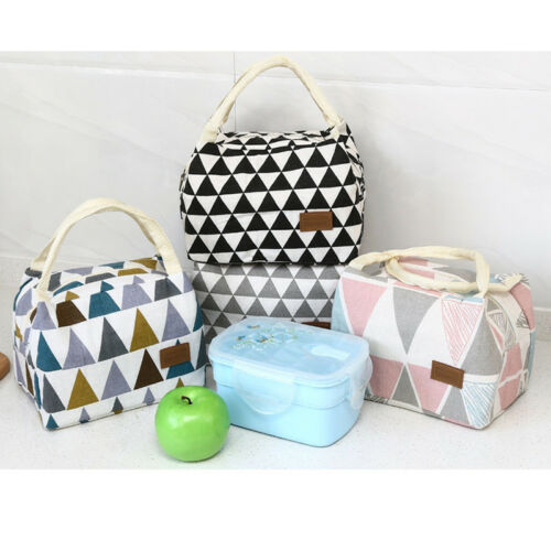 Brand New Style Women Portable Lunch Bag Insulated Thermal Cooler Box Carry Tote Plaid Lunch Bag 2019 New