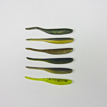 Salted  Fishing Freshwater Silicone Soft Swimbait Shad Bass Pike Trout Lure 70mm/ 2g 10 pcs