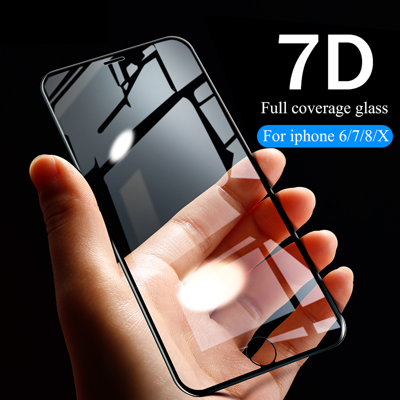 Image 5 - 7D protective Glass For iPhone 6 7 8 6S Plus X XS MAX XR glass iphone 7 8 x 6 XS screen protector tempered glass on iphone 7 8-in Phone Screen Protectors from Cellphones & Telecommunications