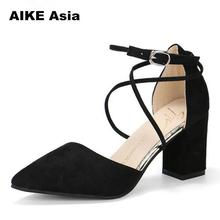 Gladiator Sandals Women Shoes Sexy Pointed Toe Pumps
