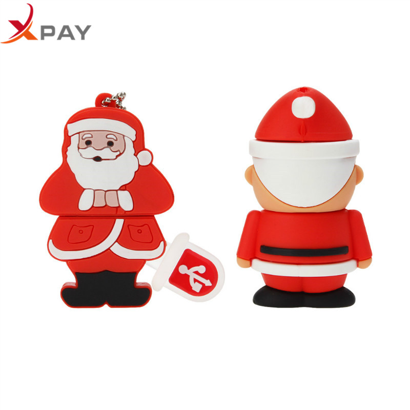Pen Drive 2.0 Cartoon Usb Flash Drive 32GB Christmas Elk Deer 4GB 8GB flash memory 16GB 64GB usb flash 128GB Snowman Pendrive-in USB Flash Drives from Computer & Office