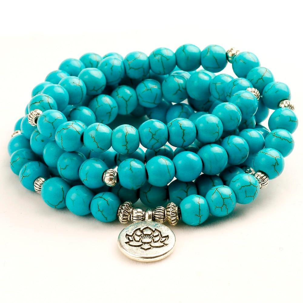 Men 8mm Howlite Lotus Bracelet or Necklace Stone 108 Beads Buddha Tree Life Charms Bracelet Women Couple Jewelry Gift for Girls толстовка puma puma pu053emqpg03