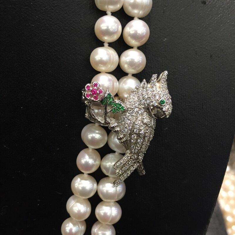 925 argent sterling avec zircon cubique clip serrure perroquet il est utilisé pour garder le long collier slip et decortaion aimant femmes
