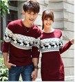 Qualidade camisola do natal para homens e mulheres casais combinando blusas de natal para os amantes do casal blusas veados natal