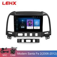 LEHX Car Radio Android 8.1 2 Din Multimedia Player For Hyundai Santa Fe 2005 2012 WIFI Car DVD Gps Navigation