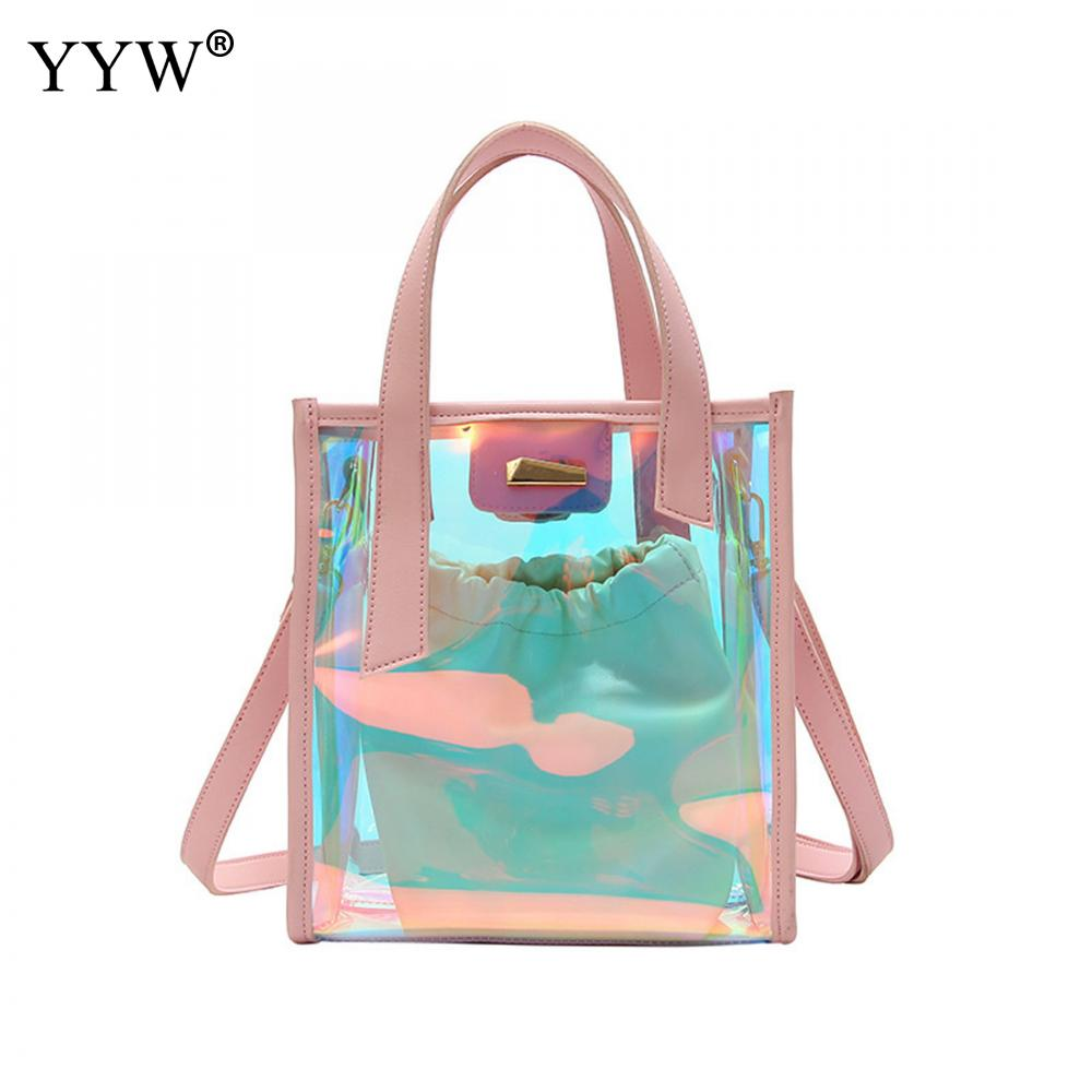 Solid Tote Bags for Women 2018 Fluorescent color Top-handle Bag PU Leather Handbags Women Bags Designer Shopping Crossobdy Bag
