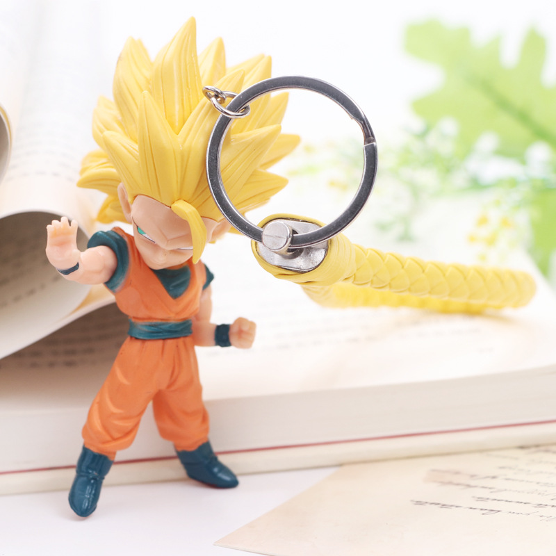 Anime Dragon Ball Goku Action Figures Super Saiyan Zamasu  Black God Of Creation Vegetto Mai Dragon Ball Z Figure Keychain Toys