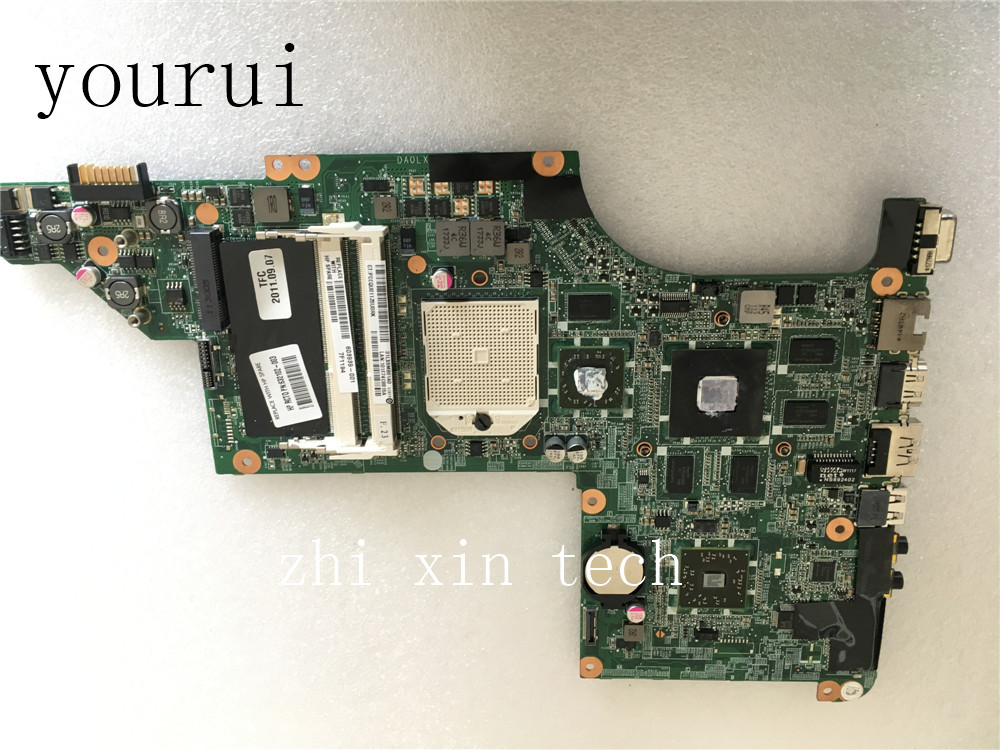 yourui  603939-001  DA0LX8MB6E1 Laptop motherboard For HP Pavilion DV6 DV6-3000 Mainboard  DDR3 100% Tested